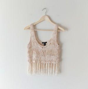 Forever21 Crochet Crop Tank Top